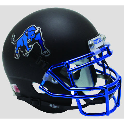 Buffalo Bulls Matte Black with Chrome Mask Schutt XP Mini Helmet - Alternate 3