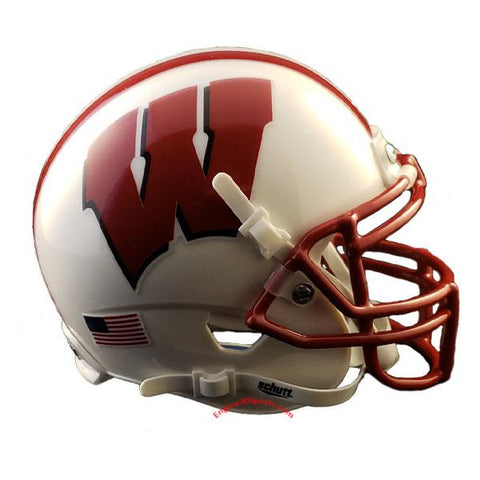Wisconsin Badgers Forever Forward Schutt XP Mini Helmet - Alternate 3 side