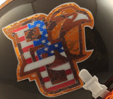Bowling Green Falcons Military Appreciation Schutt XP Mini Helmet - Alternate 3 Logo