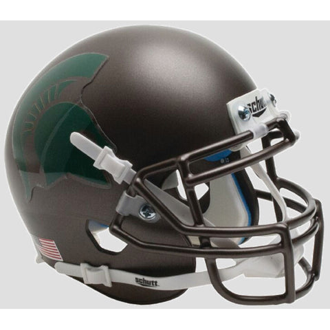 Michigan State Spartans Bronze Schutt XP Mini Helmet - Alternate 3