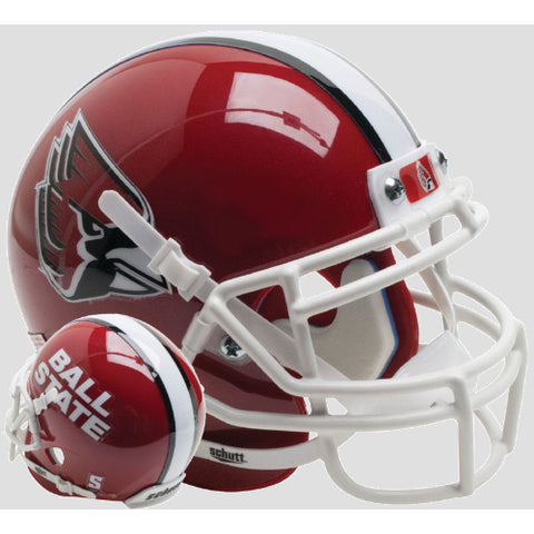 Ball State Cardinals Red Schutt XP Mini Helmet - Alternate 3