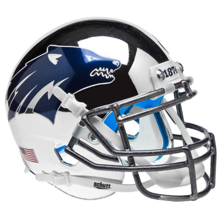 Nevada Wolfpack Chrome Silver Schutt XP Mini Helmet - Alternate 3