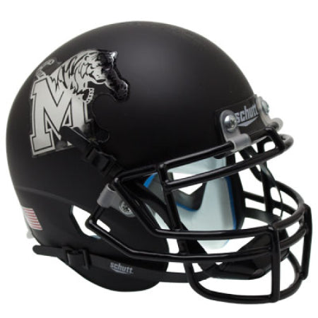 Memphis Tigers Matte Black Schutt XP Mini Helmet - Alternate 3