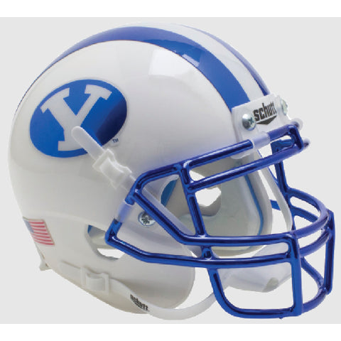 BYU Cougars Chrome Schutt XP Mini Helmet - Alternate 3