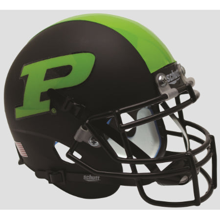 Purdue Boilermakers Neon Green Schutt XP Mini Helmet - Alternate 3