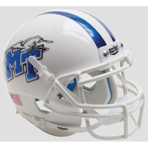 Middle Tennessee State Blue Raiders White with Half Stripe Schutt XP Mini Helmet - Alternate 3