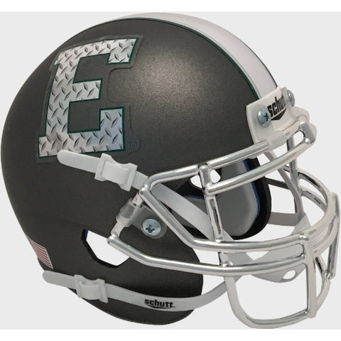 Eastern Michigan Eagles Silver with Chrome Mask Schutt XP Mini Helmet - Alternate 3