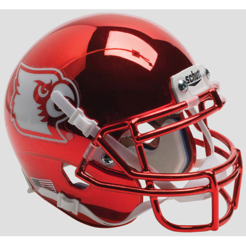 Louisville Cardinals Red Chrome Schutt XP Mini Helmet - Alternate 4