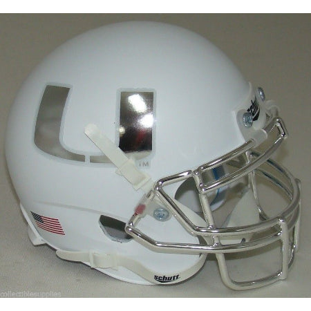 Miami Hurricanes Chrome Mask & Decal Schutt XP Mini Helmet - Alternate 4