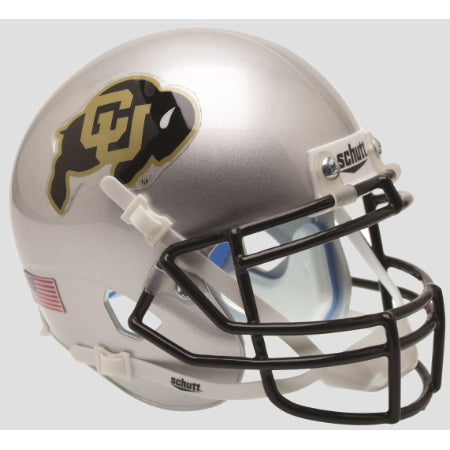 Colorado Buffaloes Silver Schutt XP Mini Helmet - Alternate 4