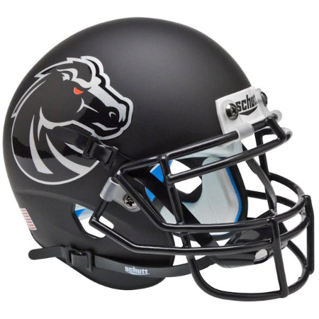 Boise State Broncos Matte Black Schutt XP Mini Helmet - Alternate 4