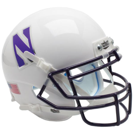 Northwestern Wildcats White Schutt XP Mini Helmet - Alternate 4