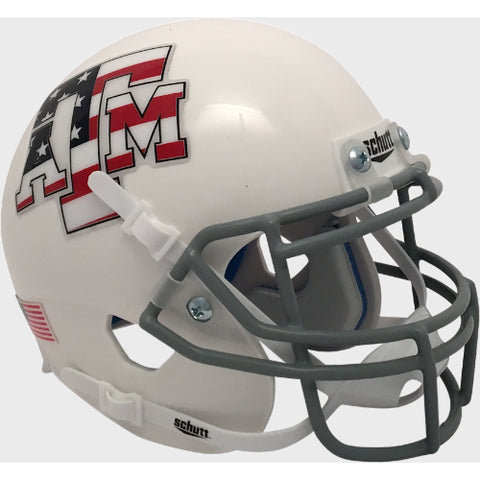 Texas A&M Aggies Stars & Stripes Schutt XP Mini Helmet - Alternate 4