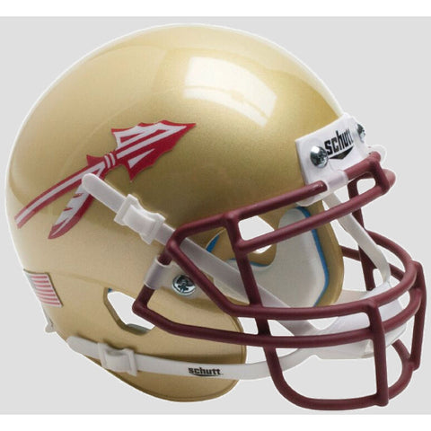 Florida State Seminoles Standard Decals Schutt XP Mini Helmet - Alternate 4