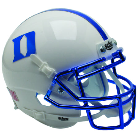 Duke Blue Devils Chrome Mask Schutt XP Mini Helmet - Alternate 4