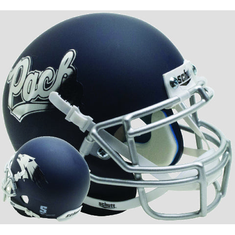 Nevada Wolfpack Matte Navy Schutt XP Mini Helmet - Alternate 4