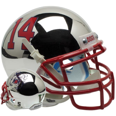 Fresno State Bulldogs Chrome Schutt XP Mini Helmet - Alternate 4