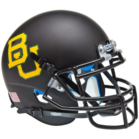 Baylor Bears Matte Black Schutt XP Mini Helmet - Alternate 4