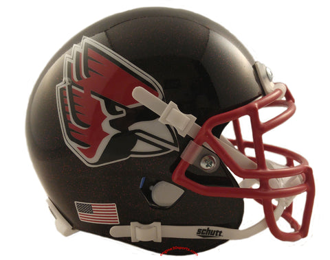 Ball State Cardinals Black with Red Flake Schutt XP Mini Helmet - Alternate 5