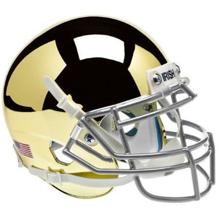 Notre Dame Fighting Irish Chrome Gold Schutt XP Mini Helmet - Alternate 2
