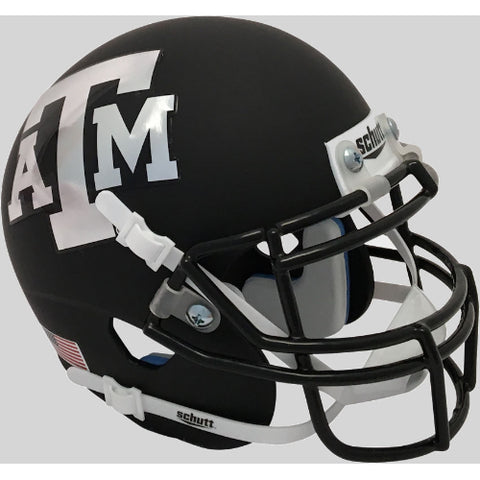 Texas A&M Aggies Black with Maroon Mask Schutt XP Mini Helmet - Alternate 5