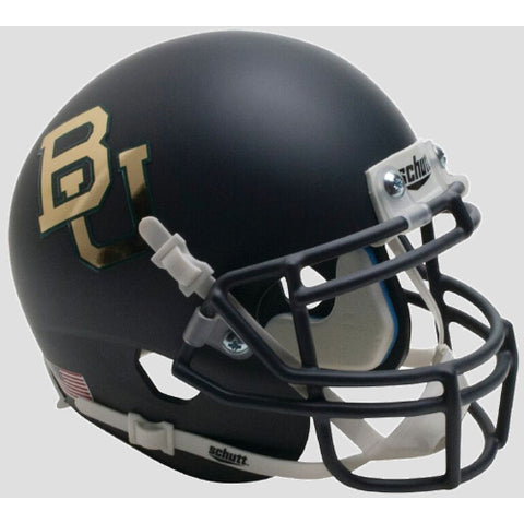 Baylor Bears Matte Anthracite with Chrome Decal Schutt XP Mini Helmet - Alternate 5