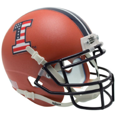 Illinois Fighting Illini Patriotic Logo Schutt XP Mini Helmet - Alternate 5