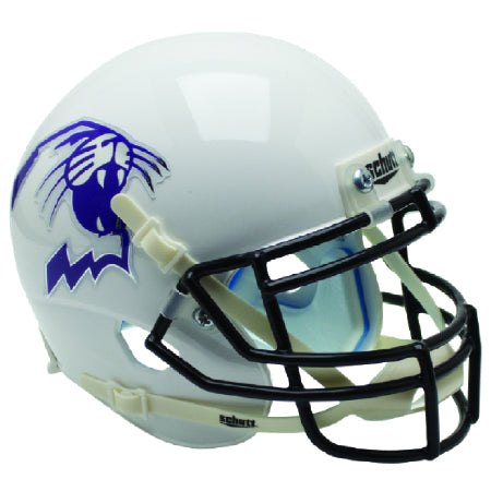 Northwestern Wildcats White with Wildcat Logo Schutt XP Mini Helmet - Alternate 5