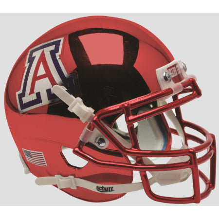 Arizona Wildcats Chrome Schutt XP Mini Helmet - Alternate 5