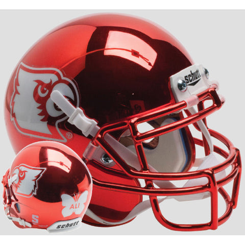 Louisville Cardinals Red Chrome Ali Schutt XP Mini Helmet - Alternate 5