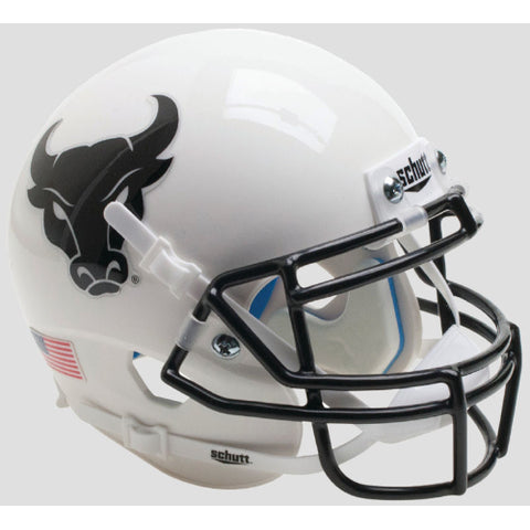 Buffalo Bulls White with Black Mask Schutt XP Mini Helmet - Alternate 5