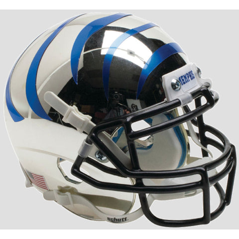 Memphis Tigers Chrome with Blue Stripes Schutt XP Mini Helmet - Alternate 6
