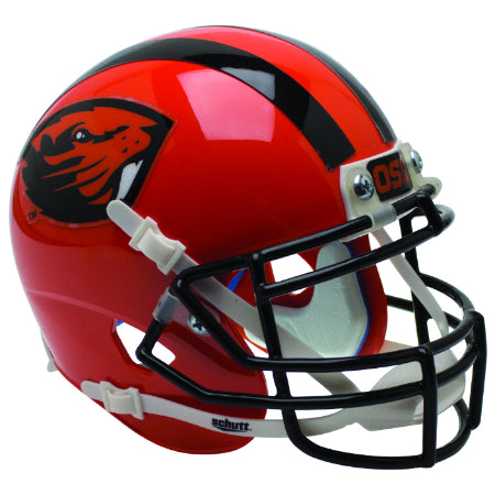 Oregon State Beavers Orange with Beaver Logo Schutt XP Mini Helmet - Alternate 6