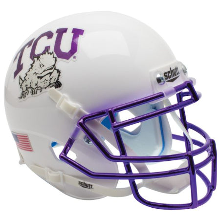 TCU Horned Frogs Chrome Facemask Schutt XP Mini Helmet - Alternate 6