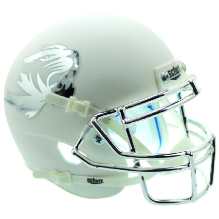 Missouri Tigers White with Chrome Mask Schutt XP Mini Helmet - Alternate 6