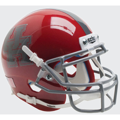 Houston Cougars Grey Mask Schutt XP Mini Helmet - Alternate 6
