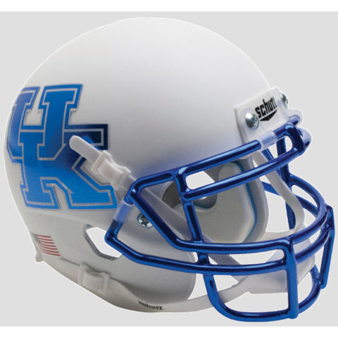 Kentucky Wildcats Matte White Schutt XP Mini Helmet - Alternate 6