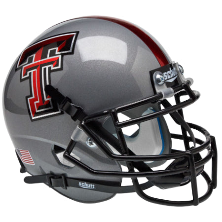 Texas Tech Red Raiders Grey Schutt XP Mini Helmet - Alternate 6