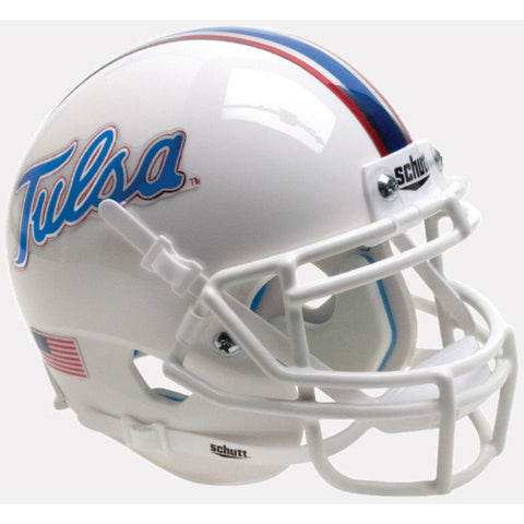 Tulsa Golden Hurricane Chrome Decals Schutt XP Mini Helmet - Alternate 6