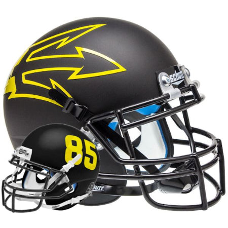 Arizona State Sun Devils Matte Black with 85 Schutt XP Mini Helmet - Alternate 6