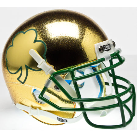 Notre Dame Fighting Irish Textured with Shamrock Schutt XP Mini Helmet - Alternate 7