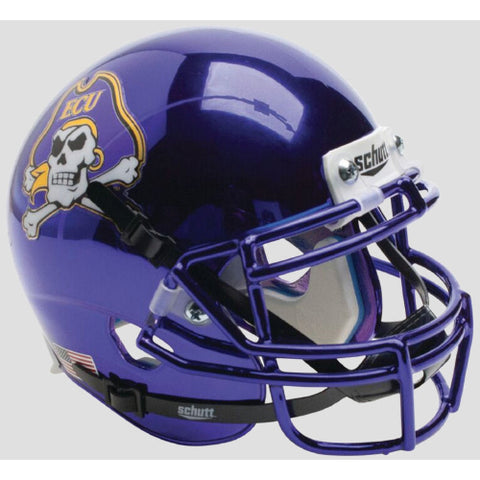 East Carolina Pirates Chrome Schutt XP Mini Helmet - Alternate 7