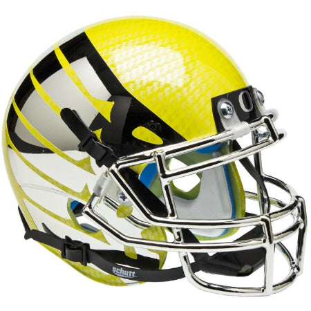 Oregon Ducks Liquid Lightning Wing Logo Schutt XP Mini Helmet - Alternate 7
