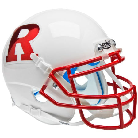 Rutgers Scarlet Knights Chrome R Logo Schutt XP Mini Helmet - Alternate 7