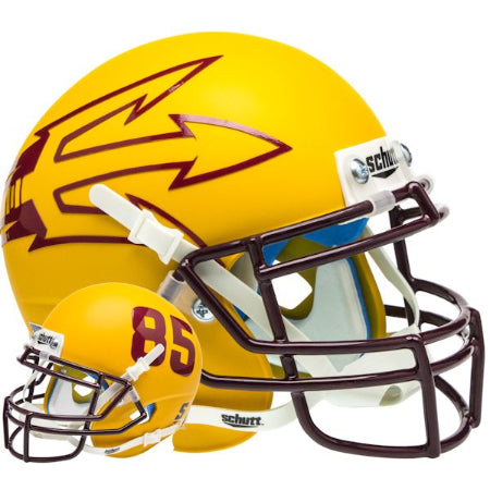 Arizona State Sun Devils Matte Gold with 85 Schutt XP Mini Helmet - Alternate 7
