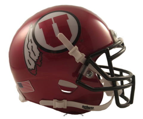 Utah Utes Ute Tribute Schutt XP Mini Helmet - Alternate 8