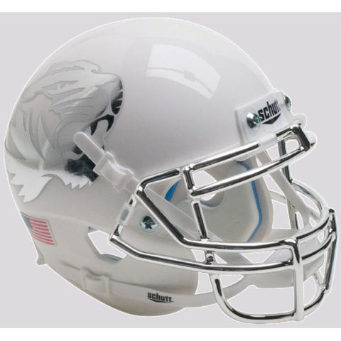 Missouri Tigers White with Chrome Mask Schutt XP Mini Helmet - Alternate 8