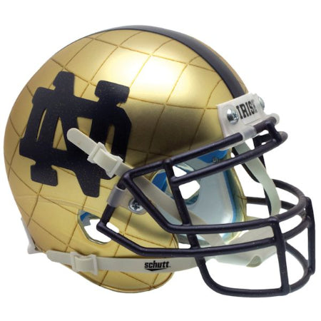 Notre Dame Fighting Irish 2014 HydroSkin Schutt XP Mini Helmet - Alternate 8
