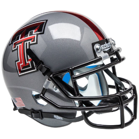 Texas Tech Red Raiders Grey with 16 Decal Schutt XP Mini Helmet - Alternate 8