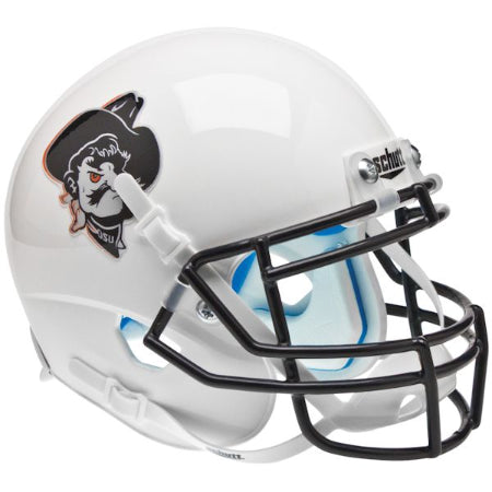 Oklahoma State Cowboys Pistol Pete White Schutt XP Mini Helmet - Alternate 8